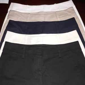 Ann Taylor City Shorts Size 00, 5pr lot.